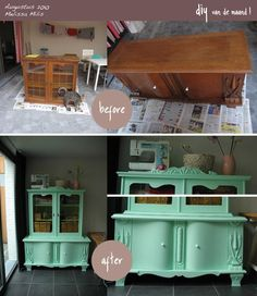 furniture makeover. What a gorgeous piece. That lady, is one SWEET find! But getting to the point, I MUST have something in this color. A room. An armoire or hutch. A staircase. Something.