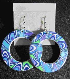 blue earrings  10.00$
