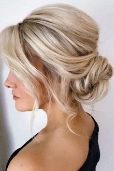 Mother Of The Bride Hairstyles: 63 Elegant Ideas Guide] - Mother Of The Bride Hairstyles ★ mother of the bride hairstyles simple messy low bun on blonde hair pearly. Mother Of The Groom Hairstyles, Mother Of The Bride Hairdos, Mom Hairstyles, Mother Of The Bride Make Up, Short Hair Bride Hairstyles, Mother Of Groom, Volume Hairstyles, Mother Of The Bride Fashion, Updos For Medium Length Hair