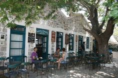 Lefkos Pyrgos historical coffee shop at Samothrace island Northeast Aegean sea Greek Islands, Coffee Shop, Beautiful Places, Street View, Journey, Architecture, World, Building, Photography