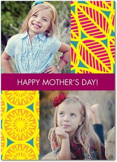 Sunny Collage - Mother's Day Greeting Cards - Design Collective - Sunny Yellow - Yellow : Front