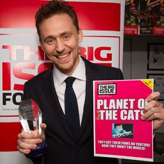 Big Issue Foundation: Tom Hiddleston at the What's On Stage Awards 2015, Prince Charles Theatre Leicester Square