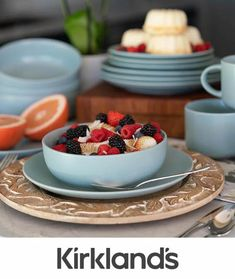 Here's some inspiration for breakfast with your family! Tap the photo to shop all new kitchen and dining. Updated Kitchen, New Kitchen, Kitchen Dining, Kitchen Ideas, Kitchen Decor, Dining Room, Blue Accents, Kitchen Accessories, Tablescapes