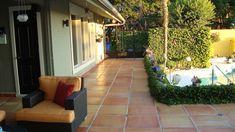 the mega saltillo a giant 24×24 inch terra cotta tile installed spanish courtyard tiles : cullmandc