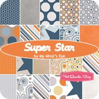 "Super Star 5"" Stacker My Mind's Eye for Riley Blake Designs - Fat Quarter Shop"