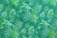 polyester and cotton fabric. Colors and shapes of this picture may vary from the original fabric. Hawaiian Print, Playsuit, Cotton Fabric, Tapestry, Shapes, Green, Pictures, Color, Jumpsuits