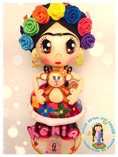 Frida khalo Angelina Bailarina, Foam Crafts, Diy Crafts, Mexican Crafts, Princess Peach, Disney Princess, Barbie, Doll Painting, Ideas Para Fiestas