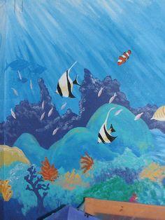 Ocean Theme bedroom mural under the sea Byn Always by bynalways, via Flickr