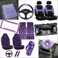 Pretty Purple Car Accessories Decorate Your Ride With Leopard Floor Mats Seat Covers