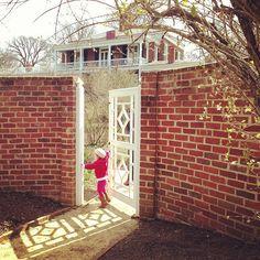 Playing at the UVA gardens. Charlottesville, VA. Photo by jsoplop