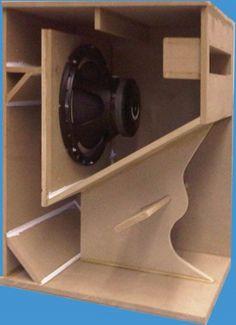 Folded Horn | Pro Audio Speaker Cabinet Design Speaker Box Diy, Custom Speaker Boxes, Speaker Plans, Speaker Box Design, Speaker System, Diy Subwoofer, Subwoofer Box Design, Subwoofer Speaker, Pro Audio Speakers