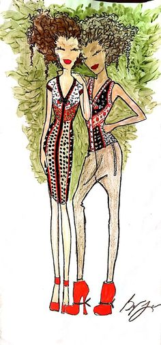 Byron Lars fashion sketch