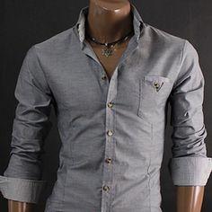 Skjorte Inter Lysegrå - Rockdenim.no - $499nok