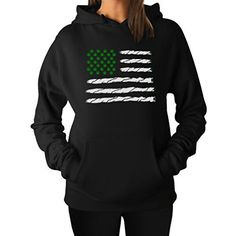 Weed Day Best Gift Funny USA Weed American Flag Hoodie XX-Large Black -- Be  sure to check out this awesome product. TeeStars Women's ...