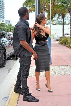 Kim Kardashian Photos - Kim Kardashian Kanye West in Miami 2 - Zimbio