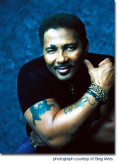 """Aaron Neville tough guy look, voice of an angel.when he sings """"jesus loves me""""-i cry."""