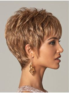 Stylish Blonde Curly Cropped Synthetic Wigs