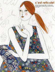 Yelena Bryksenkova fashion illustration. Illustration can be seen in Amelia's Compendium of Fashion Illustration.