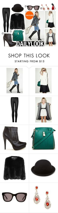 """Baby, It's Cold Outside with Dailylook: Contest Entry"" by paligg ❤ liked on Polyvore featuring Sam Edelman, Three Of Something, Donna Karan, Glamorous, DKNY, Forever 21, Wonderland, DailyLook and Bobbi Brown Cosmetics"