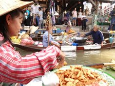 Floating markets abound on the rivers and canals of Thailand. They are the markets of a simpler life and a definite must see while in Bangkok, Thailand.