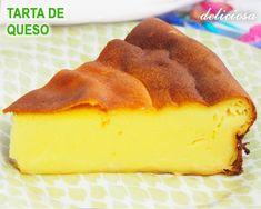 Tarta casera de queso al horno, muy fácil y rápida de preparar ya que se hace con las medidas del vaso de yogurt.. es riquísima..