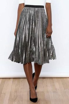 48.30$  Watch here - http://vifhr.justgood.pw/vig/item.php?t=5fzimt6562 - Sparkle Me Silver Skirt 48.30$