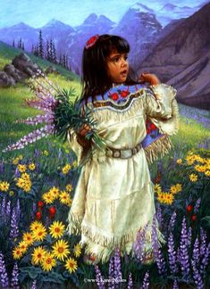 The historical moments of Native American life, as seen through the eyes of a child, are fondly recreated in a Karen Noles painting. Description from amazon.com. I searched for this on bing.com/images