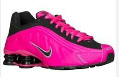 Nike pink and black.