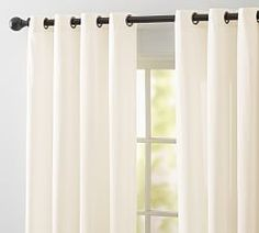 As part of our best-selling curtain collection, there are so many reasons to love the Emery Border Linen/Cotton Grommet Curtain. With a soft, luxurious drape, it brings both casual warmth and refined style to the room. The weave of the natural yar… Outdoor Curtain Rods, Outdoor Curtains For Patio, Cotton Curtains, Grommet Curtains, Farmhouse Curtains, Pottery Barn, Window Treatments, Lanai, Health Motivation