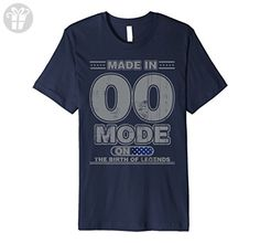 Mens 17th Yearsold Birthday Vintage Made in 2000 Mode on 3XL Navy - Birthday shirts (*Amazon Partner-Link)