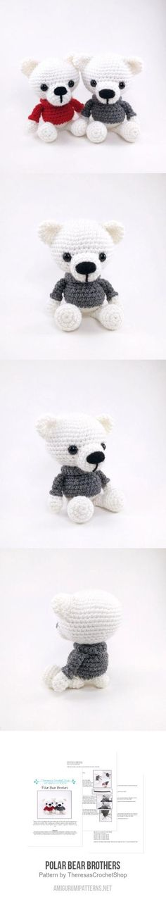 Polar Bear Brothers Amigurumi Pattern