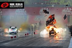 Another body destroyed for Jim Dunn Racing at Indy Finals Car Pics, Car Pictures, Rim And Tire Packages, Pop Goes The Weasel, Nhra Drag Racing, Funny Cars, Car Crash, Drag Cars, Car Engine