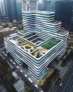 Chengdu, China : CityPorn (post by u/fueledbyshots) Arch Building, Office Building Architecture, Chinese Architecture, Futuristic Architecture, Facade Architecture, Residential Architecture, Amazing Architecture, Building Design, Chinese Courtyard