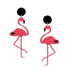 Brinco Flamingo Rosa | Virginia Morettii