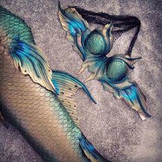 Beautiful dark peacock themed set. heart emoticon #Merbella #MerbellaStudios