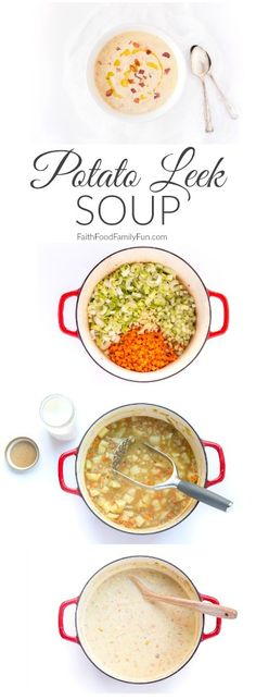 Potato Leek Soup Recipe (Revisited) - Little Emerald Thumb Potato And Leak Soup, Irish Potato Soup, Cheesy Potato Soup, Cheesy Potatoes, Cooker Recipes, Soup Recipes, Healthy Recipes, Chicken And Leek Recipes, Chicken Leek Soup