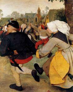 Dance of Peasants (detail)  Pieter Bruegel The Elder