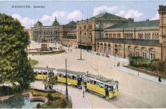 Neben dem Hauptbahnhof gab es noch das alte Hauptpostamt: | So sah es in Hannover vor 120 Jahren aus