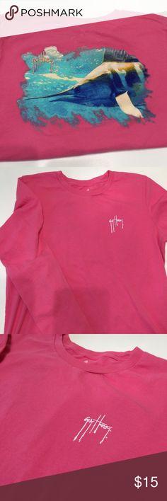 Guy Harvey pink long sleeve t shirt. XL Guy Harvey pink long sleeve t shirt. XL.  bust measures approximately 21 inches. Shoulder to hem measures approximately 27 inches. Guy Harvey Tops Tees - Long Sleeve