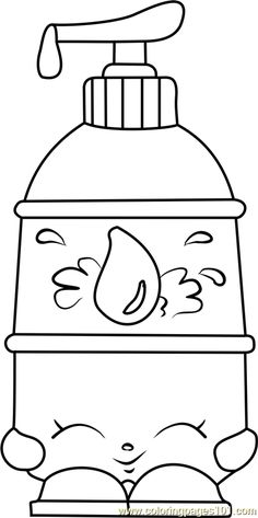 La' Lotion Shopkins Coloring Page