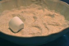 Drop marshmallows in flour to show why the moon has craters + lots of other great solar system ideas on this blog!
