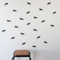 Foxes Wall Stickers by One Hundred Percent Heart