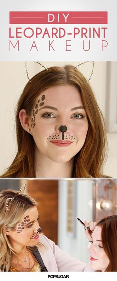 DIY Halloween Costume For the Lazy: Leopard Makeup (Animal Halloween Costumes) Halloween Cans, Cute Halloween Costumes, Easy Halloween, Diy Costumes, Halloween Makeup, Costume Ideas, Halloween 2018, Halloween Customs, Group Costumes