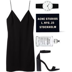 Simple night out. by basic-appeal on Polyvore featuring T By Alexander Wang, Zara, Acne Studios, Rosendahl and Maison Margiela