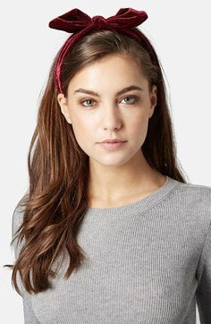 Photo 2 of Velvet Headband Bandana Hairstyles, Fancy Hairstyles, Velvet Hair, Spring Hairstyles, Hair Affair, Diy Hair Bows, Aesthetic Hair, Brunette Hair, Her Hair