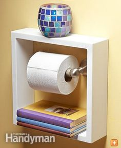 Do you live in a smaller home with limited space? Check out these 10 Easy Small Space Storage Ideas! All of these are such simple and inexpensive DIY home improvement projects that offer some extra storage space on a budget. I'm thinking of doing the shadow box toilet paper one in our tiny guest bathroom. … #HomeImprovementonaBudget