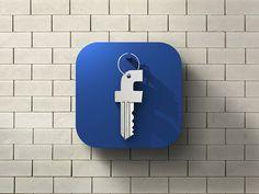 Facebook Security Icon - by Tomislav Zvonarić | #ui