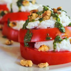 Tomato Goat Cheese Stacks