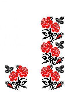 Cross Stitch Borders, Cross Stitch Rose, Cross Stitch Flowers, Cross Stitching, Cross Stitch Patterns, Advanced Embroidery, Folk Embroidery, Embroidery Designs, Tatting Patterns Free