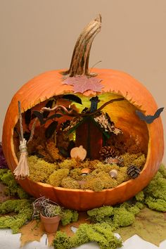 You'll find everything from steampunk to Cinderella's carriage in this gallery of pumpkin decorating ideas that can be completed in just a few hours.